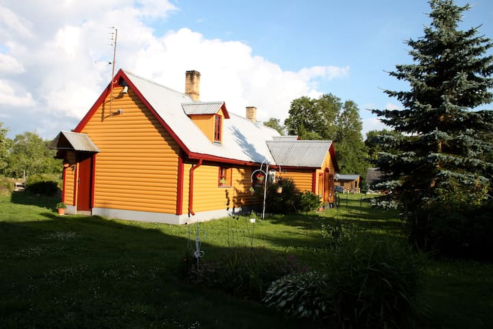 Our main house where the guests could go to have a shower, sauna, or to prepare and keep their food