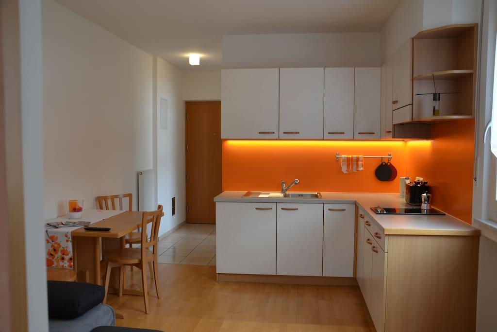 Die Wohnküche.
