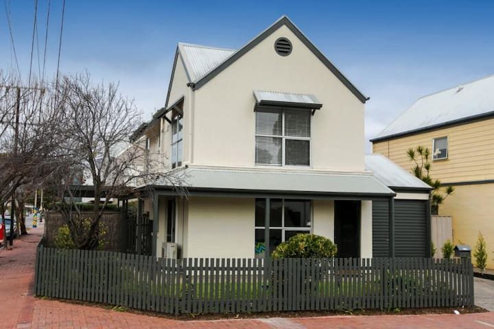 Trendy town house on cusp of town in busy Brompton