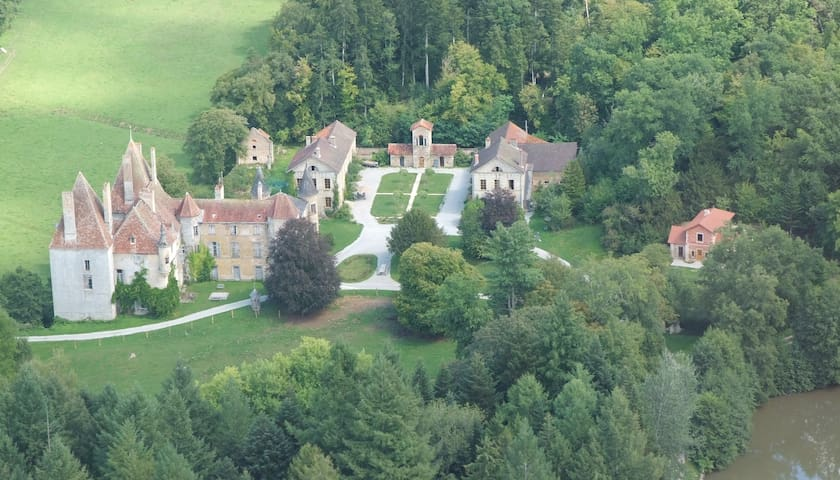 13ha estate with midieval castle, near Beaune,  D