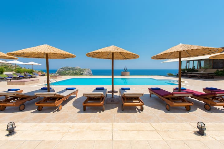 Luxurious sea view Villa Pasithea in Rhodes Greece