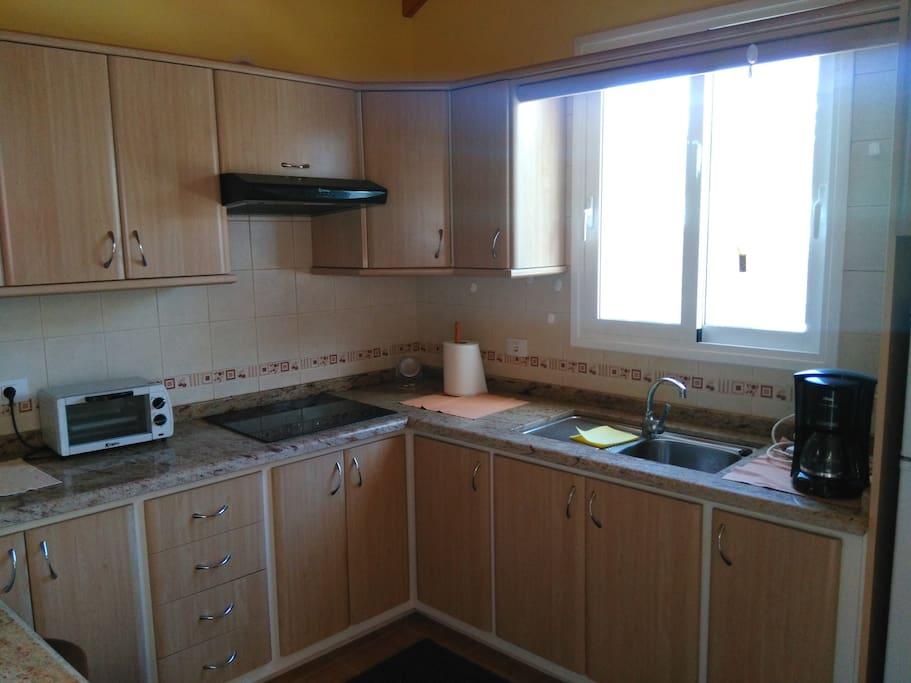Die eingerichtete Küche