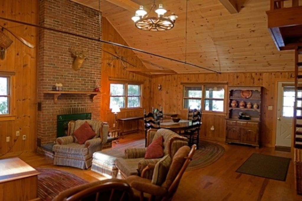 Open Living room / Dining Area -Greenville cabin