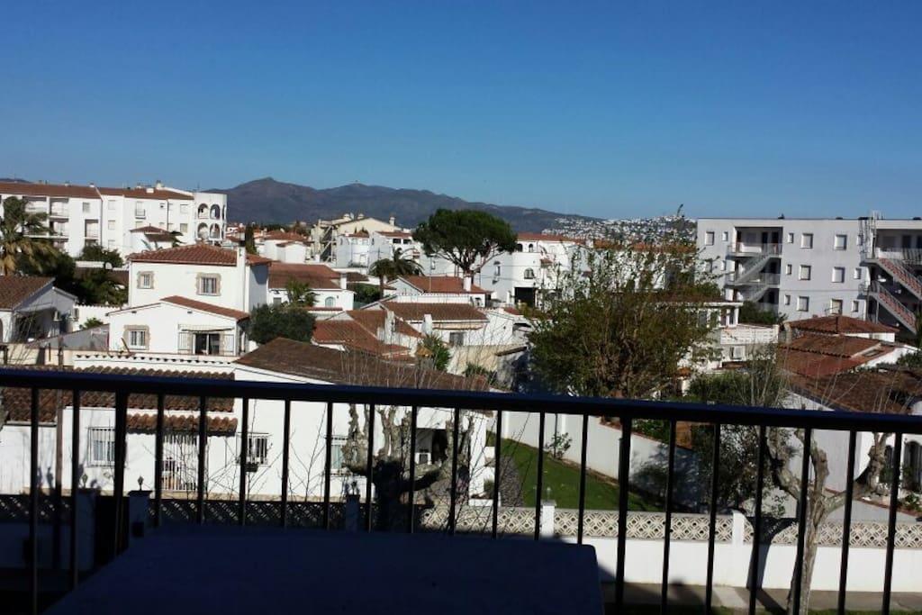 Vistas desde la terraza...