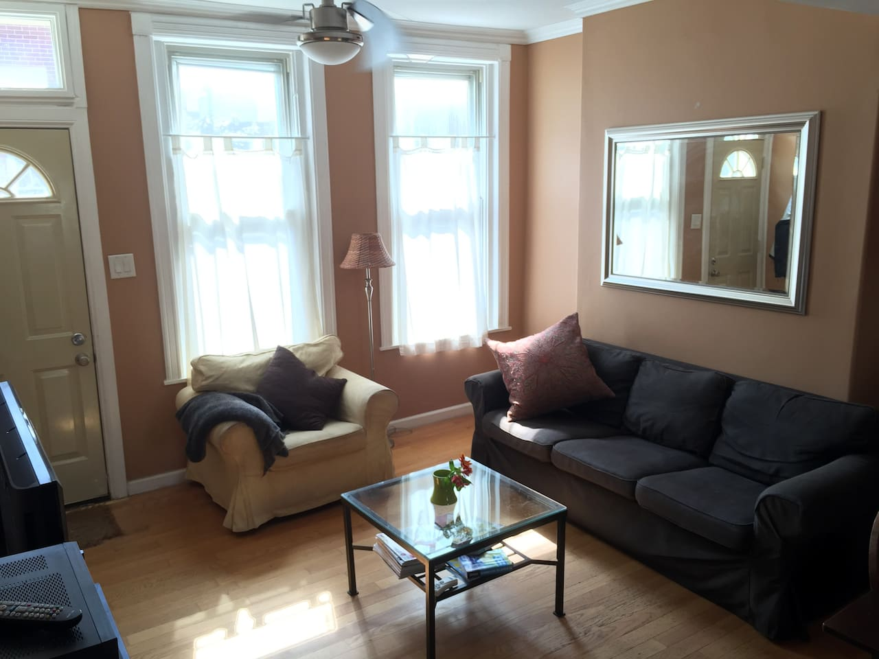 Great natural light.  Cozy and comfortable with ceiling fan equipped with dimmer light.