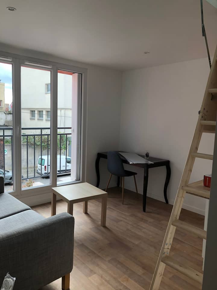 Studio en co-living à 10 min de Paris