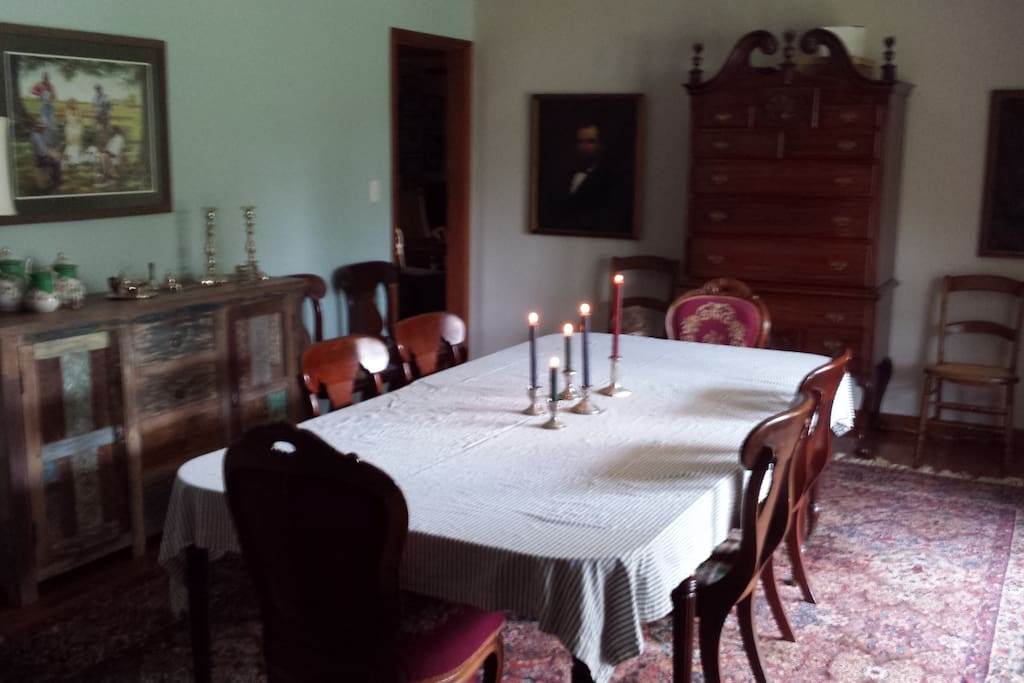 Ellen's dining room welcomes friends and family for all occasions.
