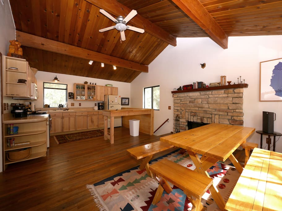 One of the best things about this cabin are the two completely separate hang out areas.  Kids can play games upstairs while the adults rage down below (or vice versa) or that couple you just realized was annoying can hang out by themselves.