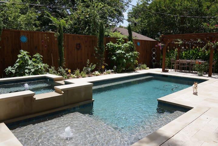Lakewood Mediterranean with Pool - Dallas - Casa