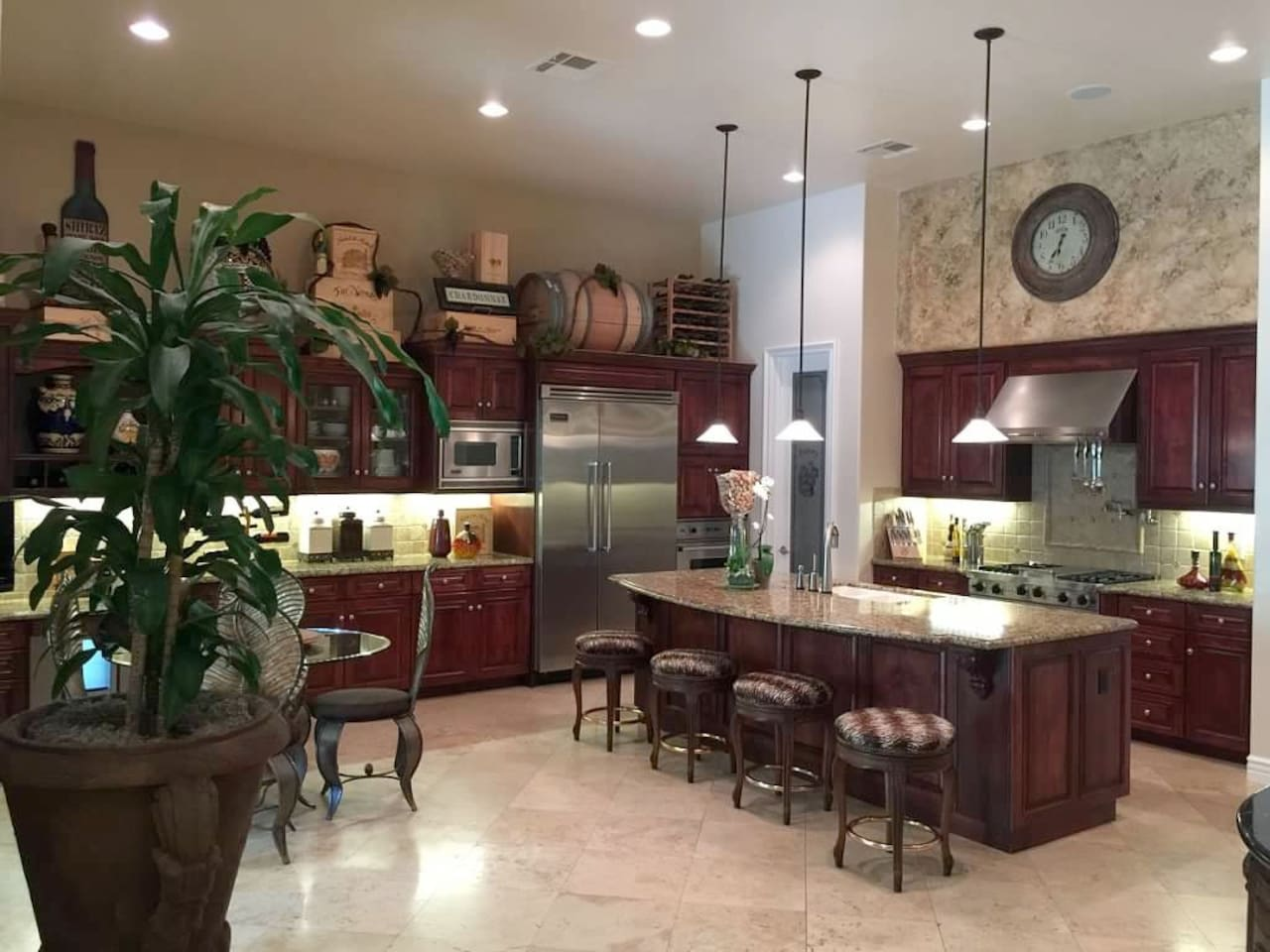 Amazing Gourmet Kitchen and gathering area.