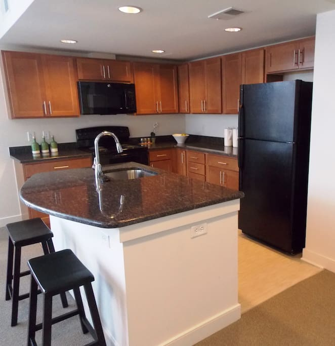 Brand new kitchen, granite countertops, energy saver appliancess