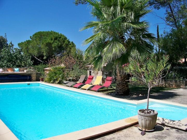 Gite lodge 2 personnes avec piscine