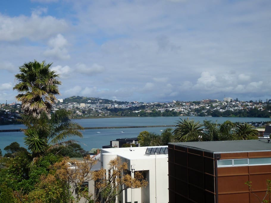Hobson Bay... (a day time view from the deck, dining room and lounge)...