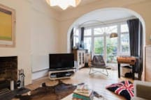 This is a sunny snug/chill out living room