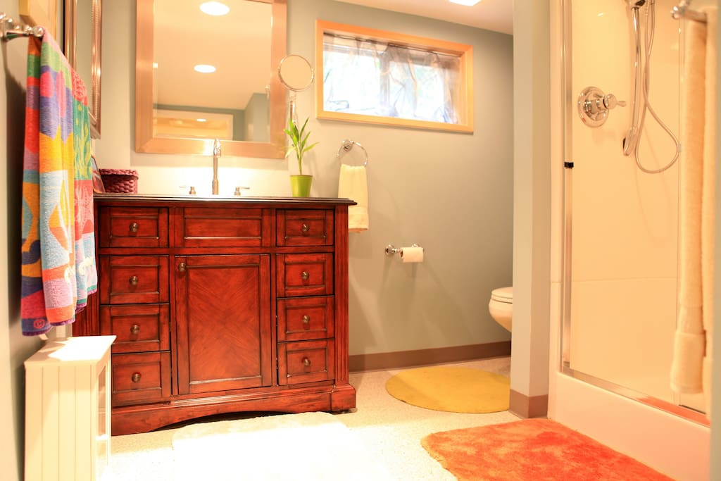 New and very large bathroom