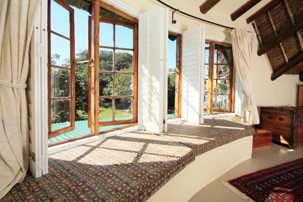 Day bed under the windows in the master bedroom upstairs.  Enjoy the sun and view from the 2nd floor.
