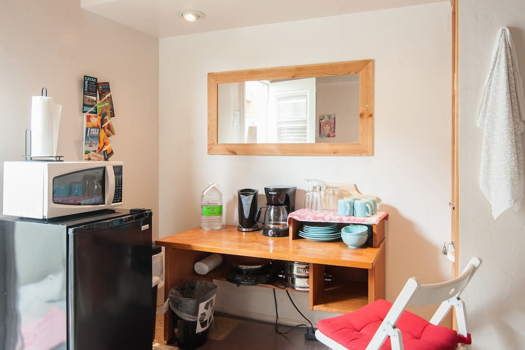 A kitchenette space