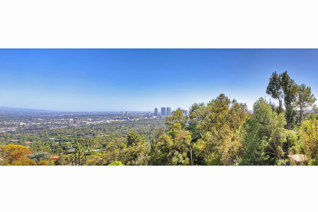 Beautiful views of Beverly Hills, Century City, and Catalina...