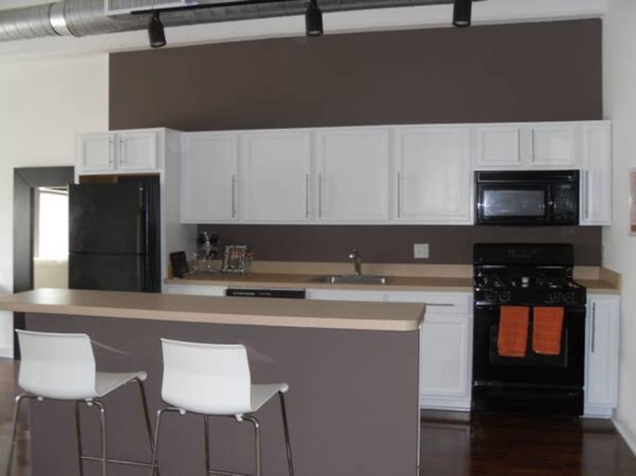 Big kitchen but no one ever uses it because the food options are too good to stay in and cook.