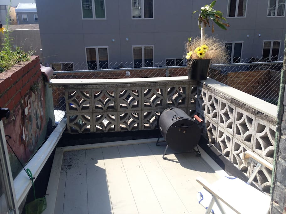 Outside deck with views of center city