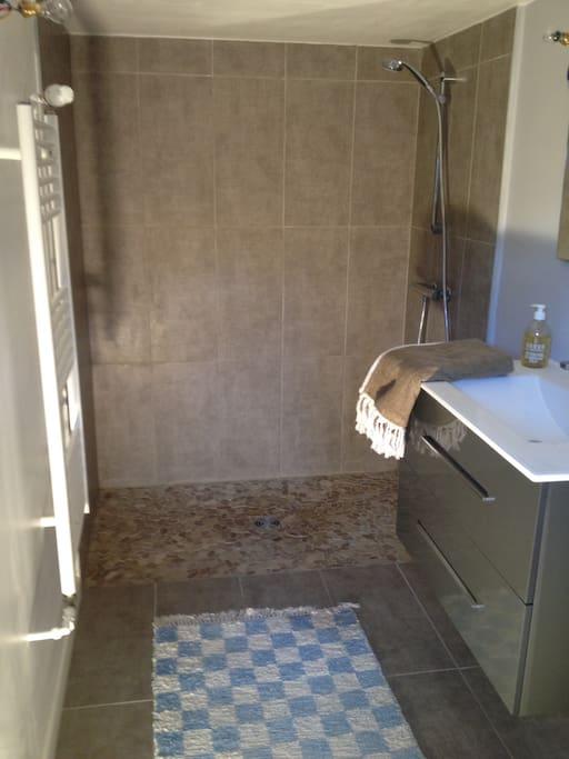 Salle de Bain avec WC et douche à l'italienne
