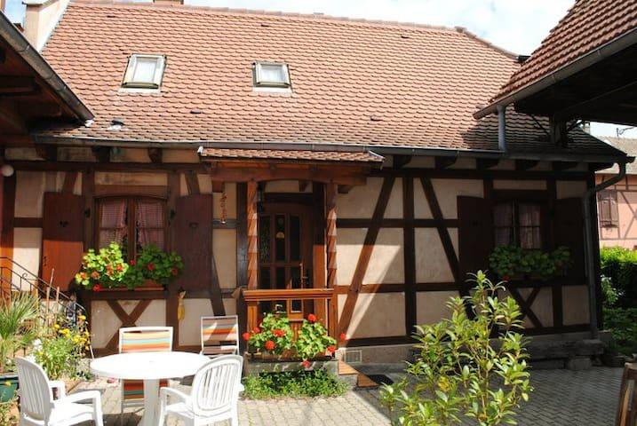 Vacances, wd en Alsace dans maison alsacienne
