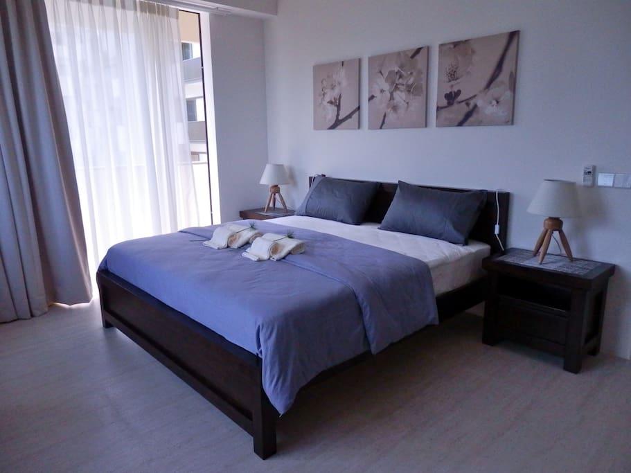 Master bedroom en-suite with King size bed.