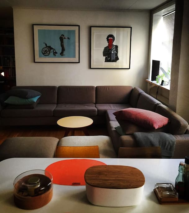 All the furniture in the apartment is handmade by the Danish design company Bolia. Most of the art is from the Norwegian artist Dolk.