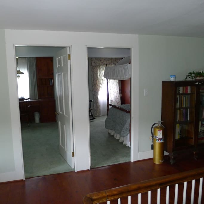 Two of the upstairs bedrooms