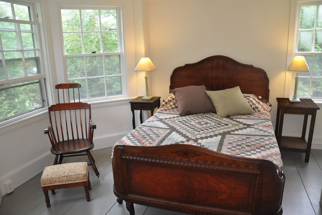Comfortable furnishings including many antiques