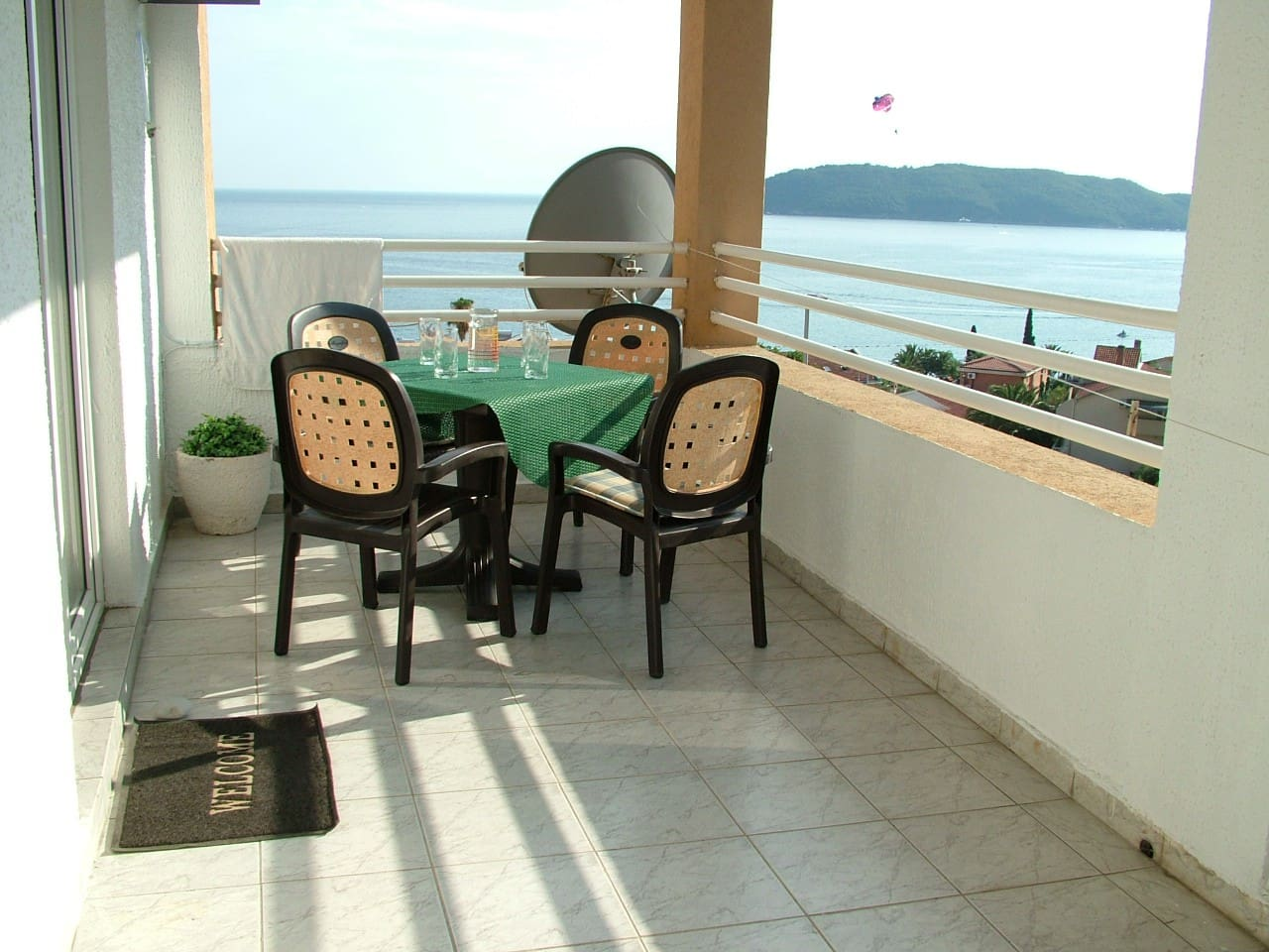 Big terrace with table
