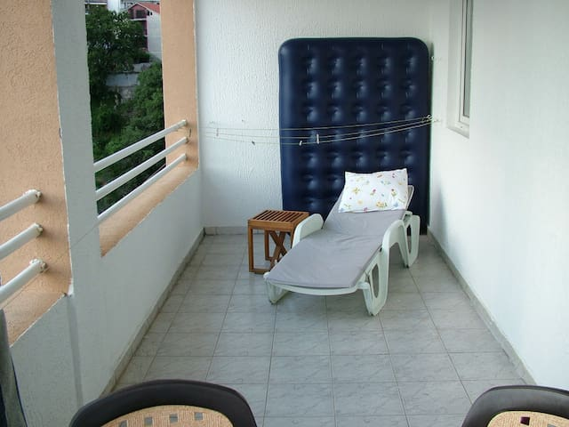 Sunbed on terrace
