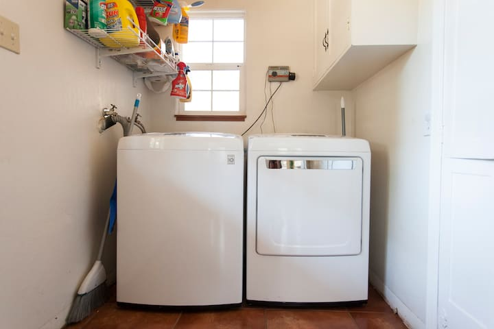 Laundry Room with new appliances