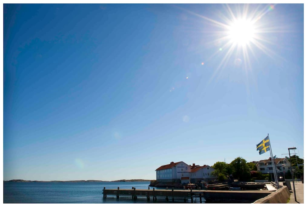 Utsikten från Strand Vandrarhem & Kusthotell