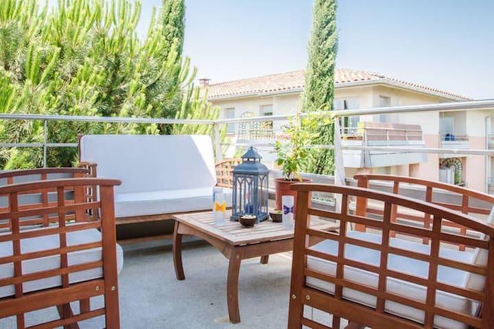 Chambre luxe dans 80m2 avec piscine - Toulouse - Apartment