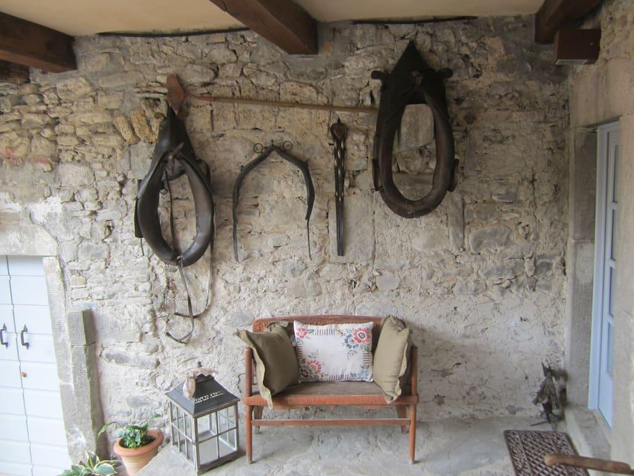 La Loggia and entrance on the right into 1st Floor quarters of La Casa Padronale...