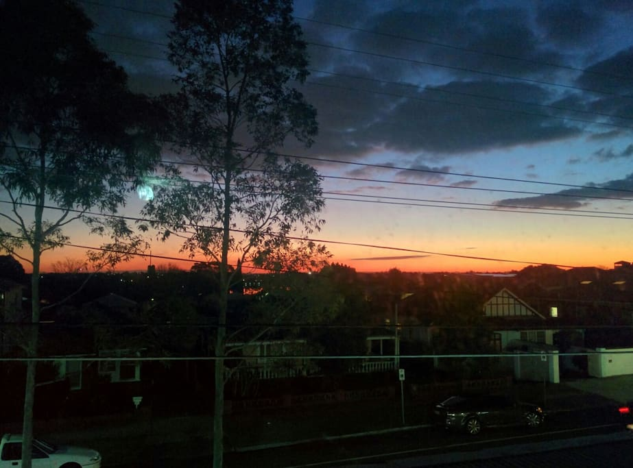 Sunsets like this nightly viewed from the balcony, lounge room and bedroom