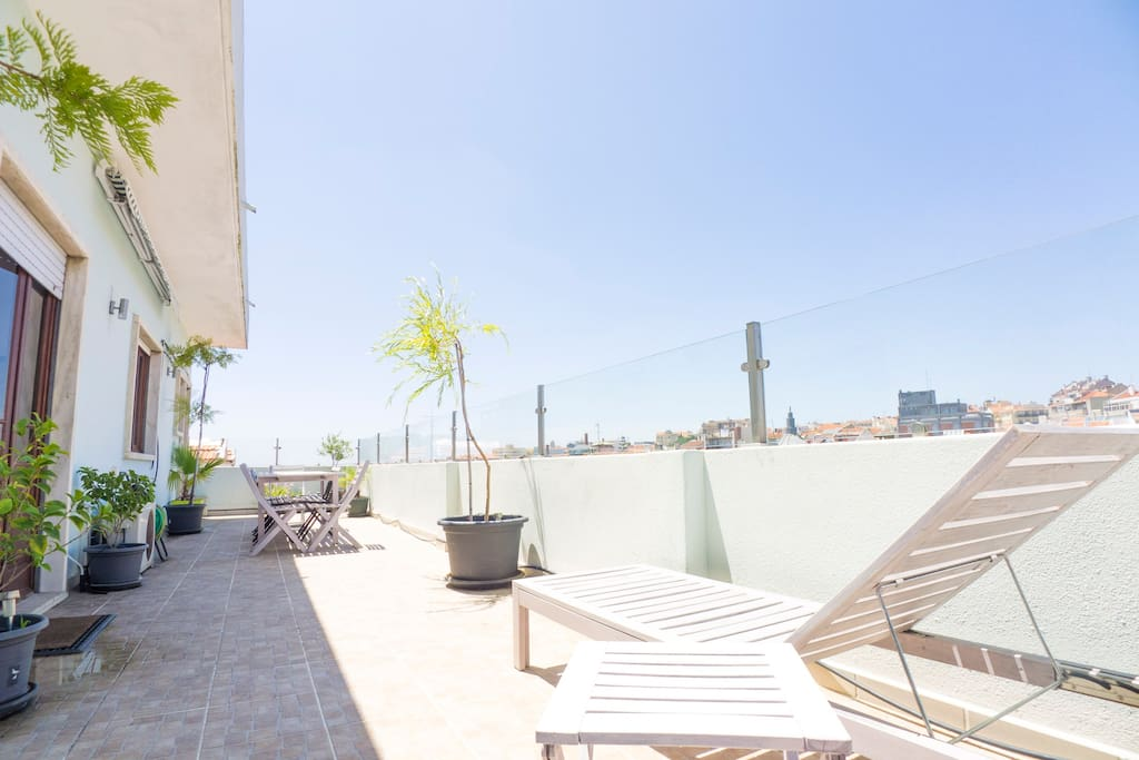Come and relax in our large terrace
