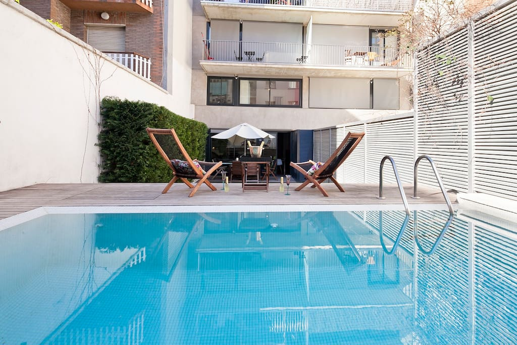 New duplex in the city centre with pool and garden flats - Garden center barcelona ...