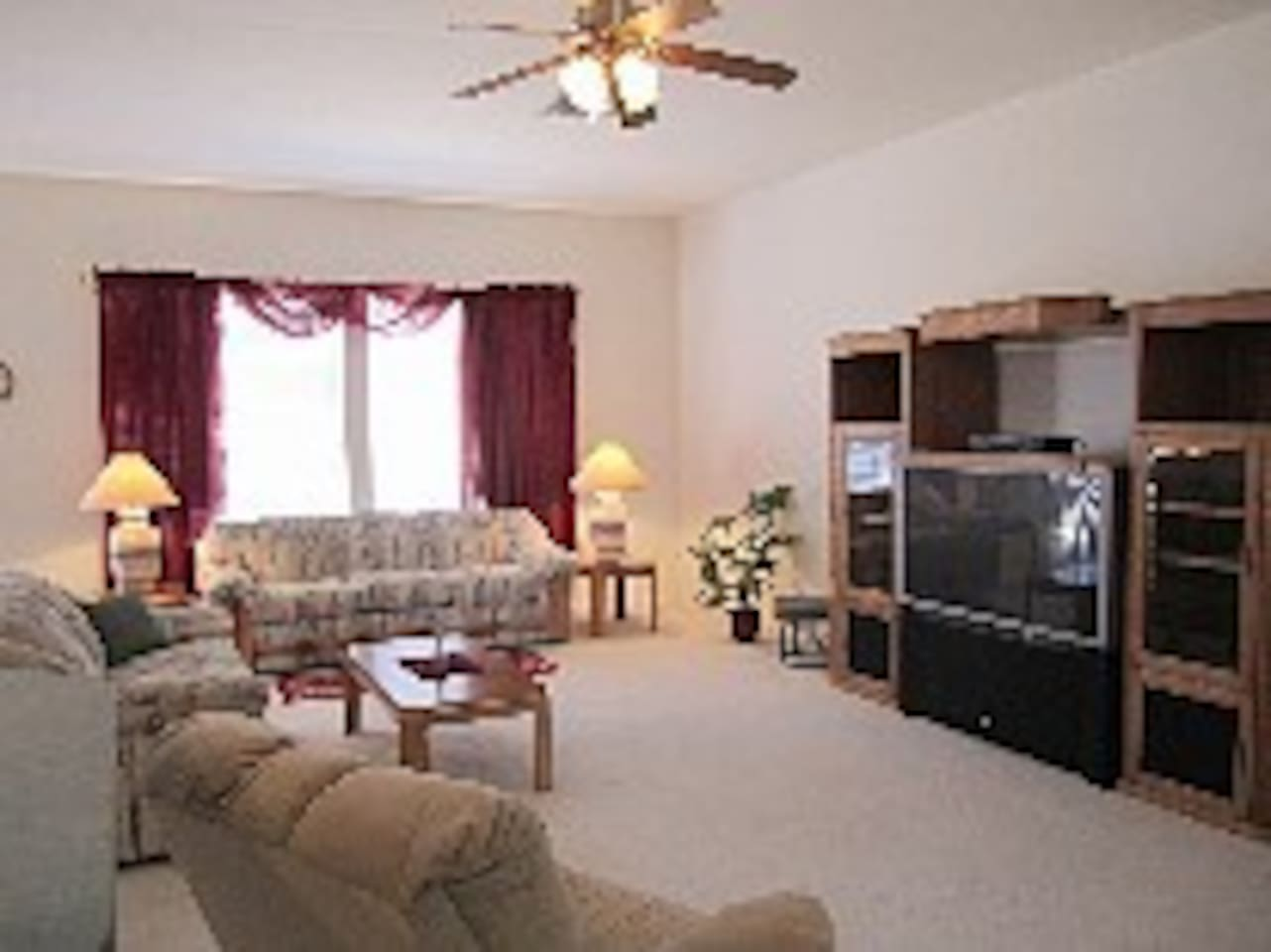 spacious, open living room