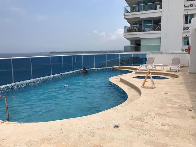 Apartamento con vista al mar ( morros Cartagena )