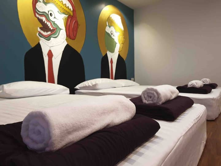 [B]Private Bed & Bath Cozy Space 5 mins to Khaosan