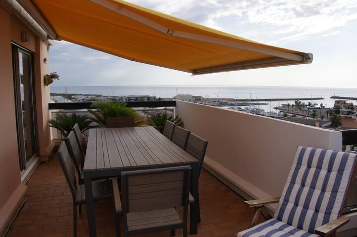 Très beau 2 pces terrasses vues mer