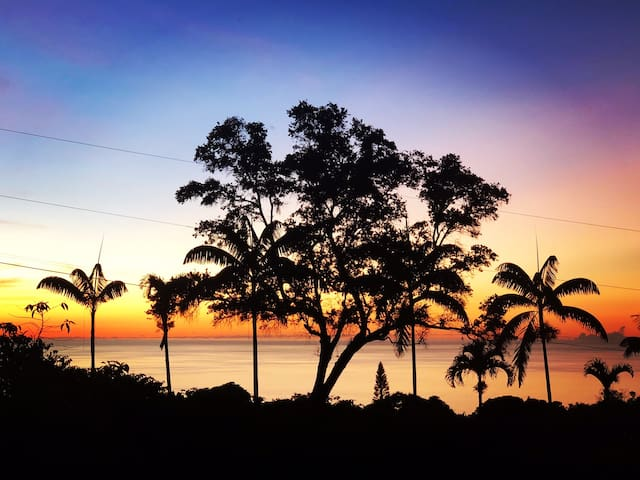 Private Cottage on coffee farm, Ocean-Sunset View