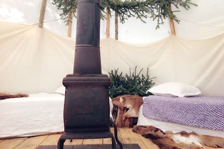 Glamping Tepee by the woods - Kızılderili Çadırı