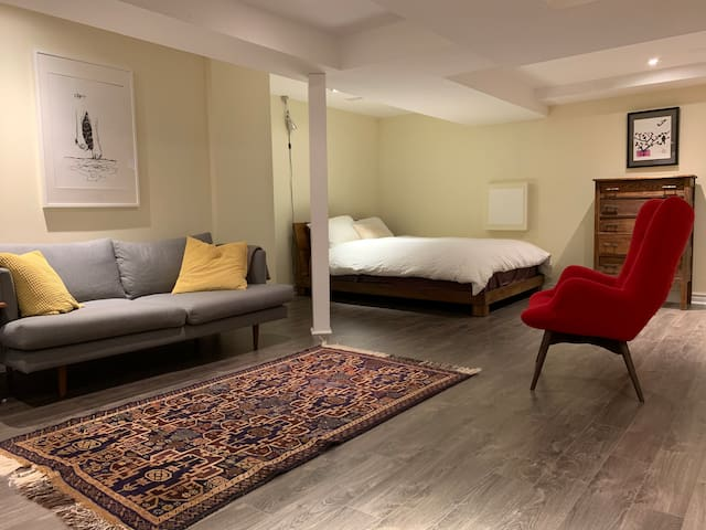 Studio basement suite in Queen West/Beaconsfield