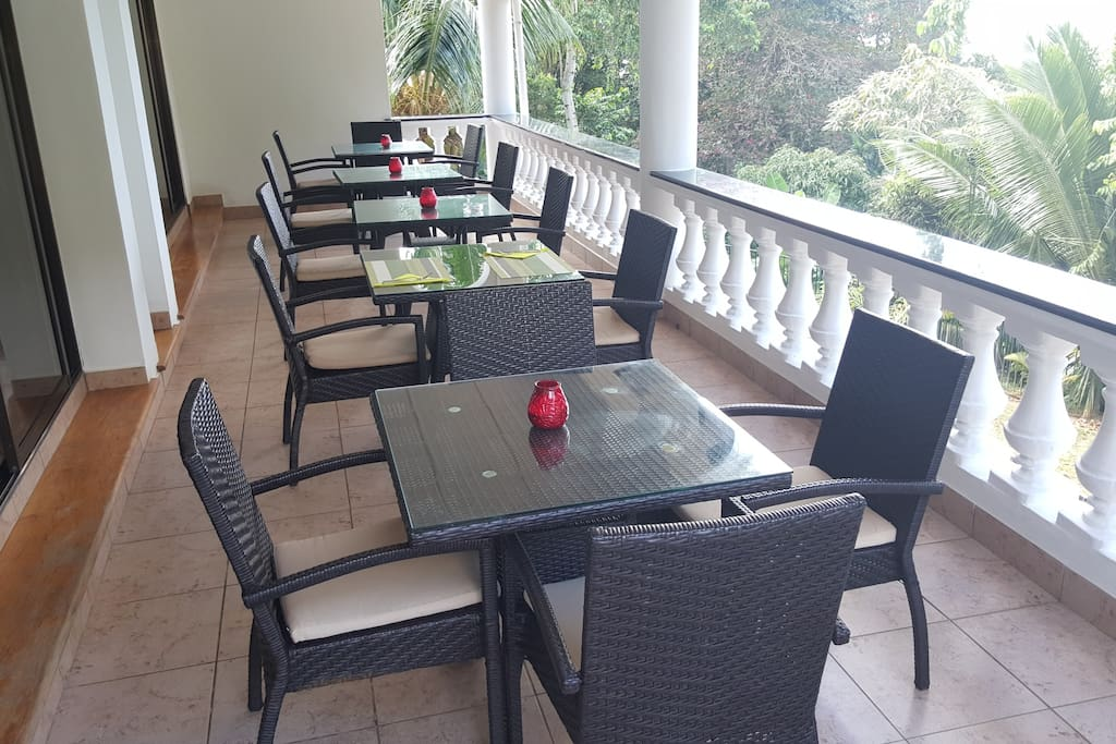 Enjoy your breakfast on our veranda whilst admiring the beautiful view of the Sea.