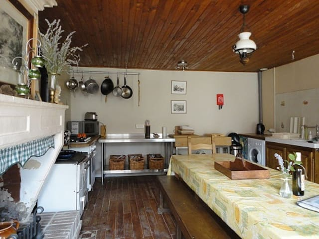 The kitchen is well equipped for large families