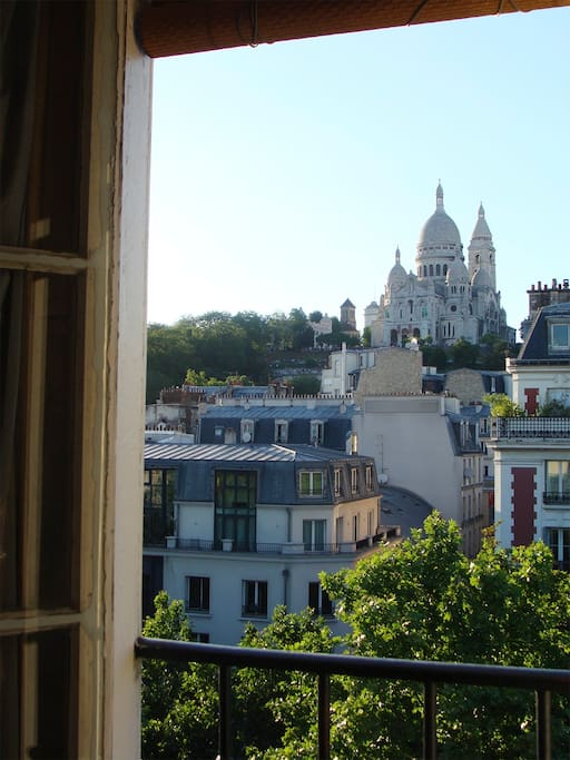 The view from the sitting-room: Montmartre Sacré-Cœur church