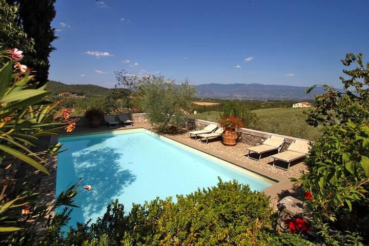 Chianti Villa with Private Pool - Ponte Agli Stolli - วิลล่า